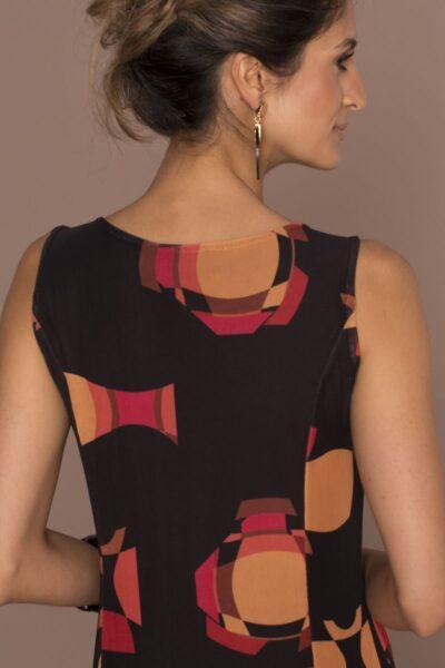 Vestido de tule midi com cortes verticais /340VNG-119