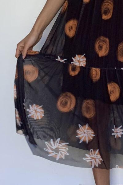Vestido de tule estilo boho /386VBO-111